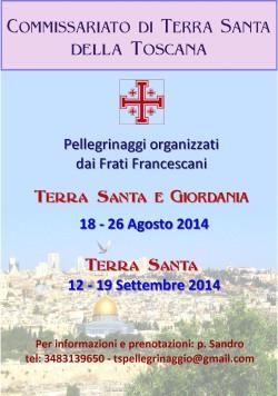 Pellegrinaggi in Terra Santa 2014